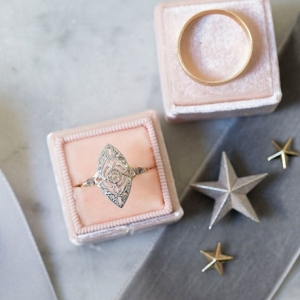 vintage ring on Chic Vintage Brides