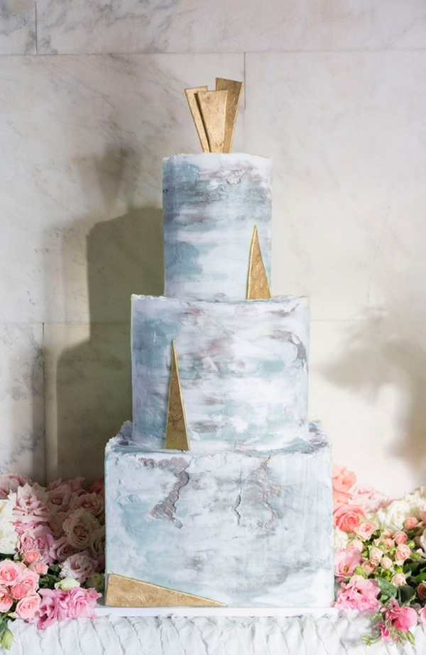 Art Deco inspired cake on Chic Vintage Brides