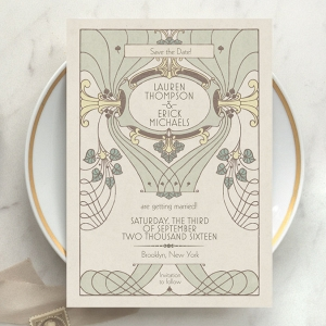 Art Deco Wedding Save the Dates