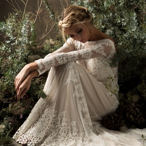 Aurora Lace Bohemian Bridal Gown