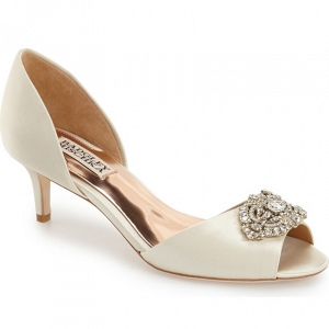 Badgley Mischka 'Petrina' Peep Toe d'Orsay Pump