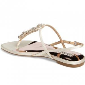 Badgley Mischkia Glamorous Flat Bridal Sandals