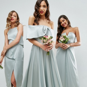 Mismatched Jade Bridesmaid Dresses