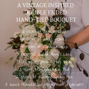 Beautiful Vintage-Inspired Bridal Bouquet Recipe