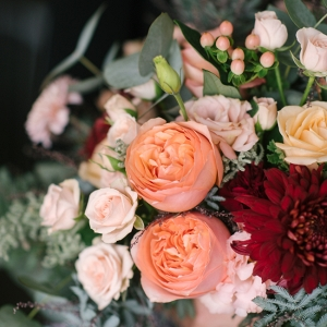 An Organic Bridal Bouquet Recipe in Blush, Peach & Marsala