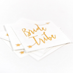 Bride Tribe Temporary Bridal Shower Tattoos