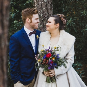 Stylish Winter Bride & Groom