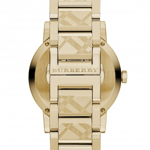 Unisex Burberry Check Stamped Bracelet Watch, 38mm