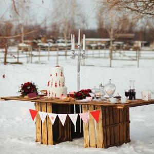 Holiday Wedding Dessert Table