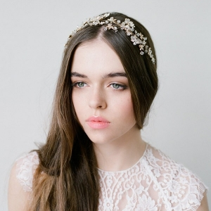 Delphine - Gold Crystal Headpiece by Bride La Boheme Photography - Lana Ivanova