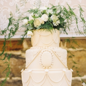 Downton Abbey Inspired Vintage Wedding Cake. Photography ~ Kimberly Brooke Photography