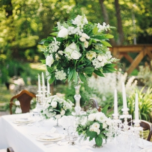 Elegant Vintage Wedding Floral Centrepiece & Tablescape. Photography ~ Kimberley Brooke Photography