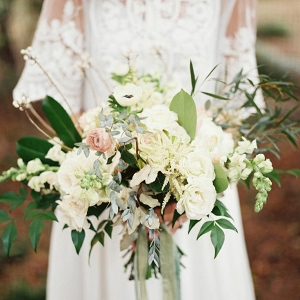 Beautiful Bridal Bouquet with a Just-picked Look
