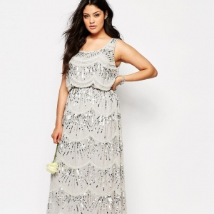 Embellished Chiffon Mother of the Bride Maxi Dress