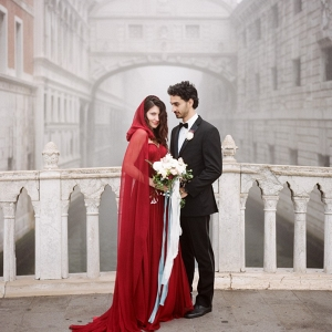 Venice Elopement Bride & Groom