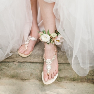 Sparkly Boho Bridal Flats by Bella Belle Shoes | As seen on @aislesociety | Photography - Rachel May