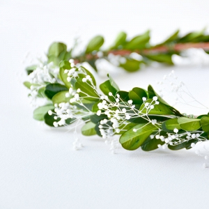 Greenery Bridal Floral Headpiece