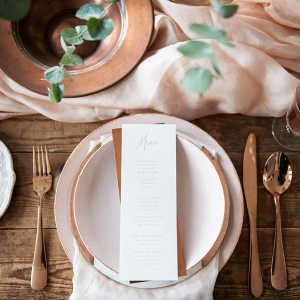 Hand-dyed Pale Peach Sheer Table Runner