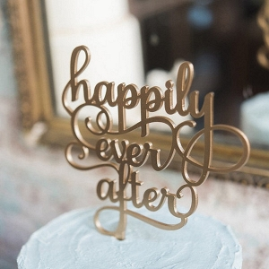 Happily Ever After Laser Cut Wedding Cake Topper