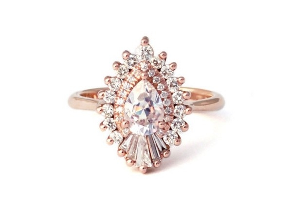 Heidi Gibson Rhapsody Pear Halo Engagement Ring Aisle