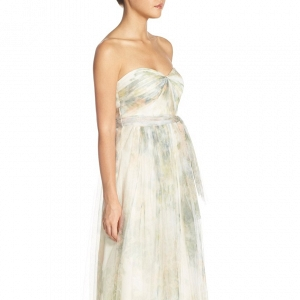 Jenny Yoo 'Annabelle' Print Tulle Bridesmaid Dress