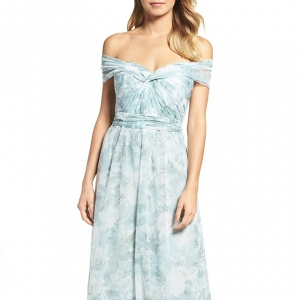 Jenny Yoo 'Nyla' Floral Print Chiffon Gown