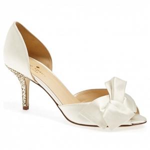 Kate Spade 'Sala' Gold Sparkly Heel Bridal Pump