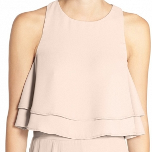 'King' Tiered Chiffon Crop Top Show Me The Ring