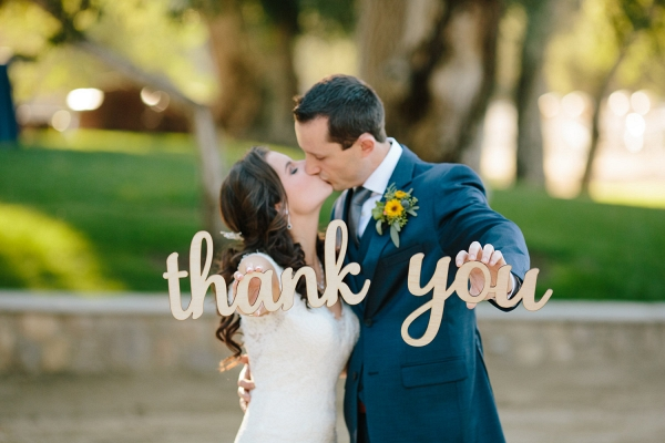 Lasercut 'Thankyou' Wedding Sign