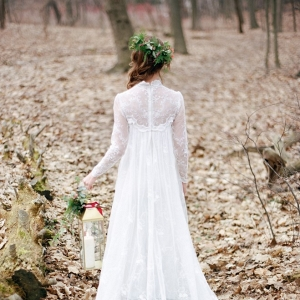 Stunning Long Sleeve Lace Wedding Dress