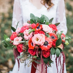 Stunning Red & Pink Bridal Bouquet