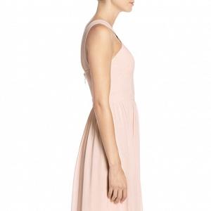 Lulu's Cross Neck A-Line Chiffon Bridesmaid Dress