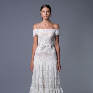 Ella Off Shoulder Lace Wedding Dress from Lihi Hod