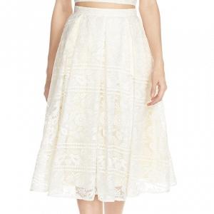 'Marietta' Lace Organza Full Skirt
