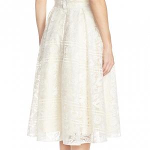 'Marietta' Lace Organza Full Skirt Back