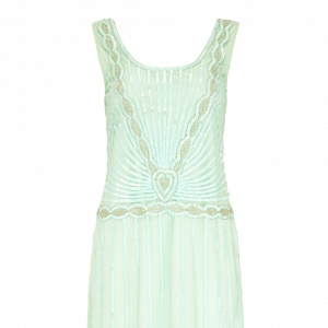 Mint 1920s Bridesmaid Dress