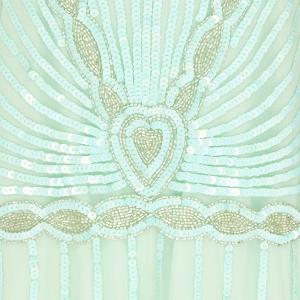 Mint Art Deco Bridesmaid Dress Beading