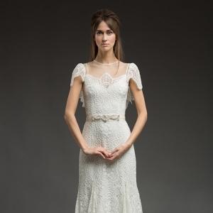 Corded Lace Wedding Dress - Paisley by Katya Katya Shehurina