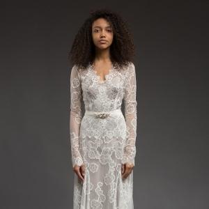Long Sleeve Lace Wedding Dress - Symphony by Katya Katya Shehurina