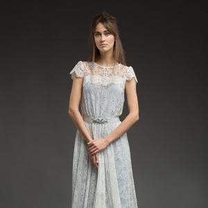 Blue Lace Wedding Dress - River by Katya Katya Shehurina