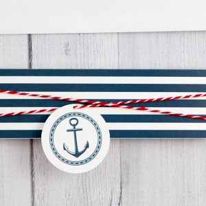 Printed Belly band with twine wrap and Anchor Tag