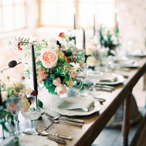 Modern Vintage Indoor Tablescape