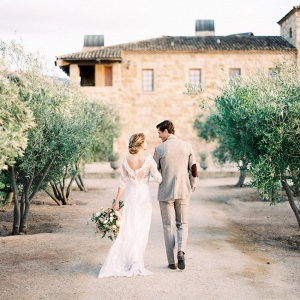 Modern Vintage Bride & Groom at Sunstone Winery