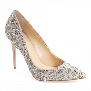 'Olivier' Pointy Toe Bridal Pump