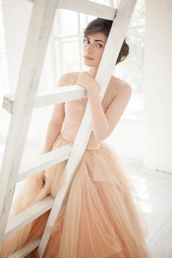 'Peony' Nude Tulle Bridal Skirt