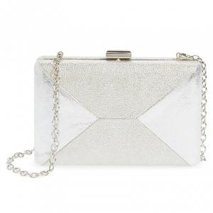'Quarto' Silver Box Bridal Clutch