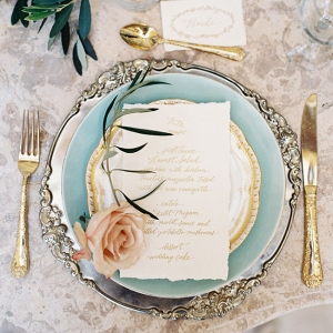 Elegant Vintage Inspired Wedding Place Setting