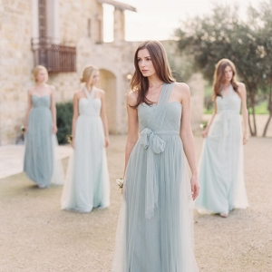 Mismatched Tulle Bridesmaid Dresses