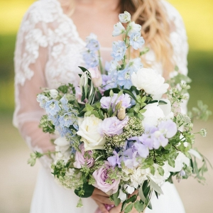 Romantic 'Just Picked' Bouquet in Pastel Blue & Purple