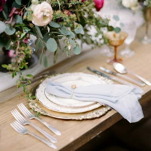 Elegant Vintage Wedding Place Setting